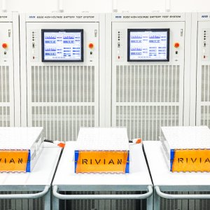 Rivian Battery Modules going through testing
